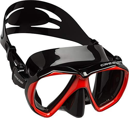 Cressi Ranger Mask Masque plongée Mixte Adulte Unisexe, Noir/Rouge, Unique
