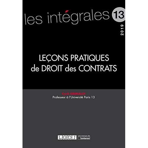 Leçons pratiques de droit des contrats