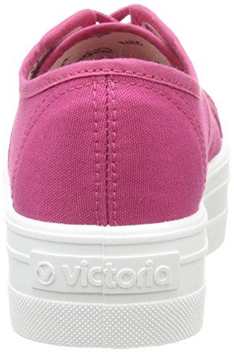 Victoria VictoriaBasket Lona PLATAF. - Scarpe con Zeppa in Tela Unisex – Adulto Rosa (96 Fresa)