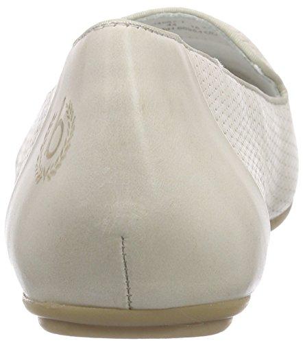 bugatti Damen J48671 Geschlossene Ballerinas Weiß (offwhite 210)