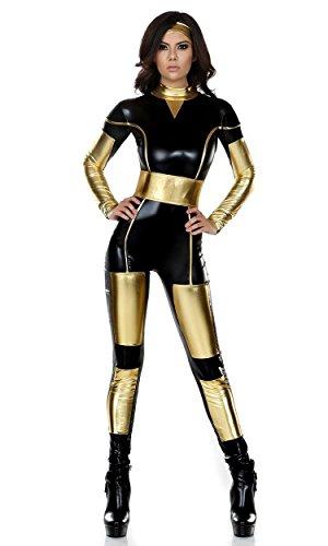 Bodysuit Kostüm Captain America - ADFHGFJ Avengers Captain America Superwoman Kostüm Halloween Karneval Cosplay Strumpfhosen Overall, Black