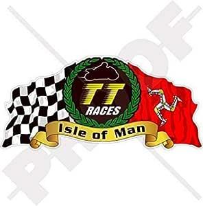 Isle Of Man Tt Races Manx Moto Gp Racing 15 2 Cm 150 Mm Vinyl Bike Helmet Aufkleber Aufkleber Garten