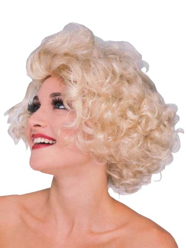 Madonna MAterial Girl Wig Blonde, Adult Costume - One Size