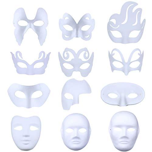 alloween Maske Kreative Leere Malerei DIY Cartoon Party Maske für Kinder ()