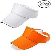 ZYCC Visera Sombrero Sombreros Running Golf Tennis Deporte con Ajustable Velcro para Hombres Mujeres (Grupo 1)