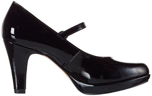 s.Oliver 24400, Escarpins femme Noir (Black Patent 18)
