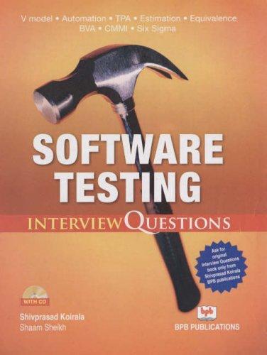 Software Testing-Interview Questions ,Koirala First Edition price comparison at Flipkart, Amazon, Crossword, Uread, Bookadda, Landmark, Homeshop18