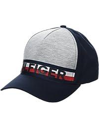 Hilfiger Denim Mens Thdm Branded 15 Baseball Cap, Grey (Light Grey HTR/Classic White), One Size (Manufacturer Size: OS) Tommy Jeans