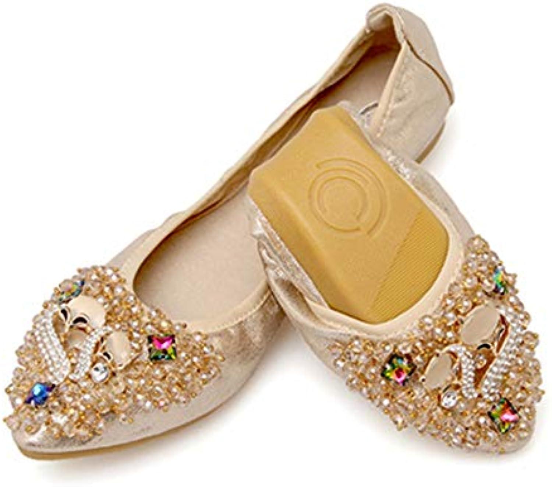 FLYRCX Moda morbida superficiale bocca strass punta morbida Moda e confortevole scarpe basse scarpe da donna incinta scarpe... Parent 426f58
