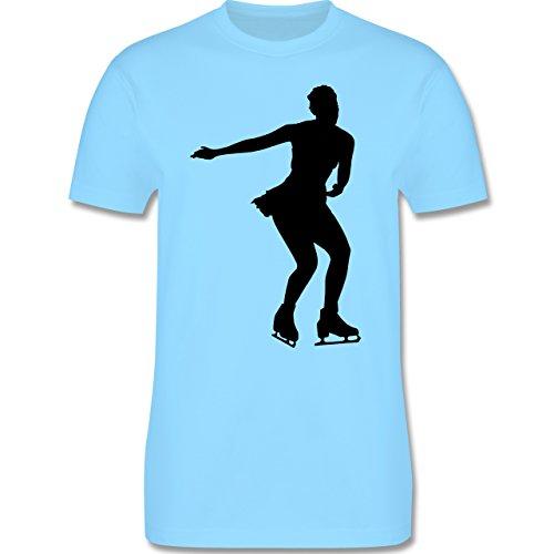 Wintersport - Eiskunstläuferin - Herren Premium T-Shirt Hellblau