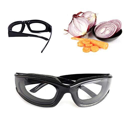 Webla Schutzbrillen für die Küche Küche Cut Onions Eyewear Sport Augenschutzbrille Blendschutzschwamm Anti-Stress Anti-Tear Cut Schwarz