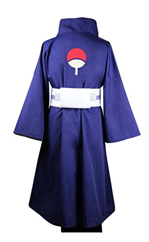 Fuman NARUTO Akatsuki Ninja Tobi Obito Madara Uchiha Cosplay Kostüm Für Erwachsene Herren Lila(Ohne Mask) M (Madara Uchiha Kostüm)