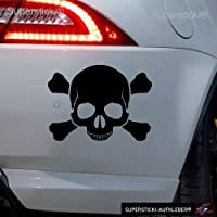 Autoaufkleber Pirat Aufkleber fürs Auto Skull Seeräuber Sticker Autosticker JDM