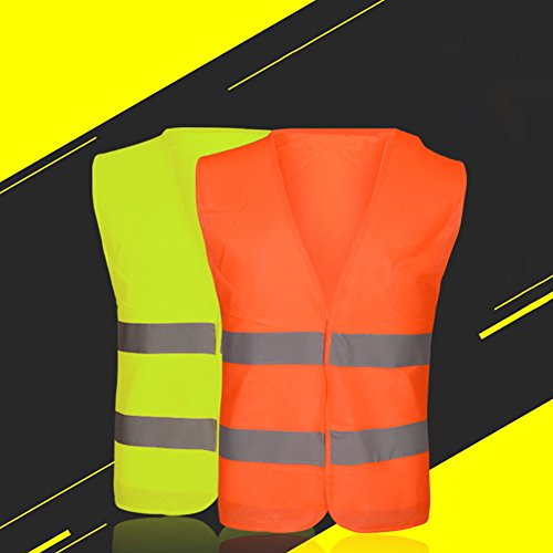 Warnweste Radfahren Motorrad Kleidung Sicherheit Herren Weste Komfortables Leichte Reflektor Streifen Hi-Vis Jacke Mit Grau für sanitärem Konstruktion Laufen Streifen (360 Brace)