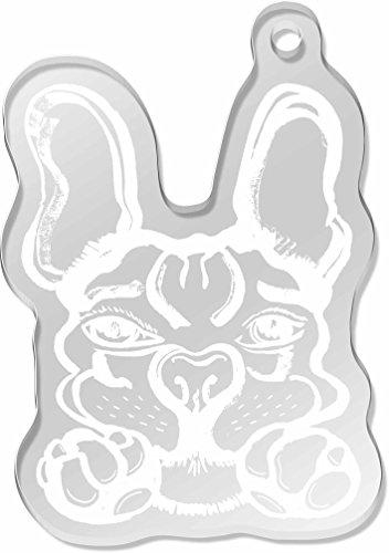 large-french-bulldog-shaped-frost-engraved-keyring-ak00025443