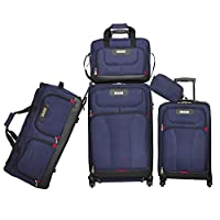 ‏‪American Explorer Softside Spinner Luggage - 5 Piece set‬‏