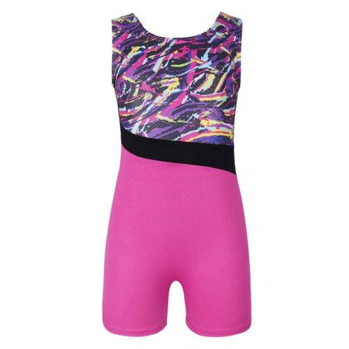 Dogeek ginnastica body colorato stripes abiti per danza classica ragazze atletica body per bambino