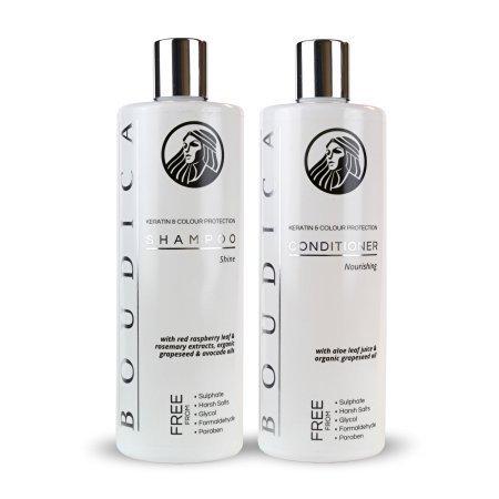 Boudica Shine Sulphate Free, Keratin Friendly Shampoo & Boudica Conditioner, Nourishing, Sulphate Free – Large 500ml Bottles