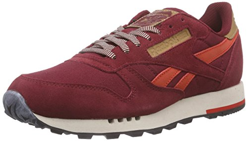 Reebok Classic Leather Utility, Baskets Basses Homme Rouge - Rot (Collegiate Burgundy/Motor Red/Stucco/Black)