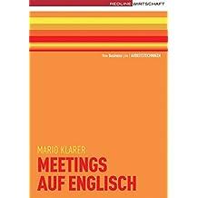 Meetings auf englisch (New Business Line)