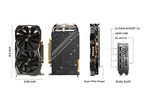 Zotac NVIDIA GeForce GTX 1080 8 GB Mini Graphics Card - Black