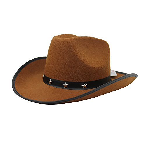 6483ff0a2726 ... Cowboy Star con Cappello in Primo Piano a Fancy Accessori per Costume  da Donna in Nero