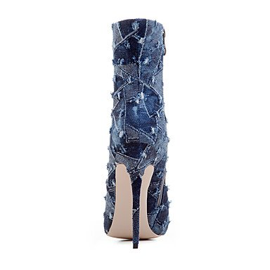 Gladiatore Donna Denim Autunno Inverno Casual Ufficio & Carriera Party & Evening Dress Gladiatore Split Joint Pl Dark Blue