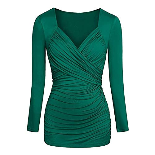 OSYARD Damen Einfarbig Plissee Paket Hüfte Dünnes Kleid -