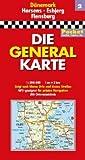 Generalkarte Dänemark Pocket Blatt 2 Horsens/Esbjerg/Flensburg: 1:200000