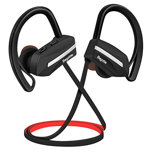 Bagotte Bluetooth Kopfhörer in Ear Bluetooth Headset Sport Ohrhörer IPX7 Wasserdichte 8 Stunden Spielzeit, CVC 6.0 Noise Cancelling Kopfhörer mit Mikrofon für iPhone Android