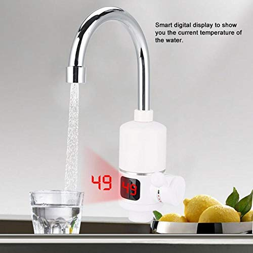 Qlyhyh Küche Durchlauferhitzer 220V 3000W Instant-Elektro-Wasserhahn Warmwasserbereiter Elektro-Heizhahn Mit Temperaturanzeige - 220 Elektro-durchlauferhitzer