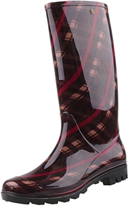 Gosch Shoes Sylt - Mujer Caña Larga Botas de Agua 7101-502-851 Berenjena