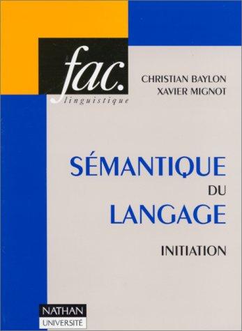 Sémantique du langage, initiation