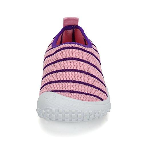 Sommer Freizeit Gestrickte Schuhe Slip-on Sneakers Zehenschutz Weiche Rutschfeste Loafer Mädchen Jungen Kinder Kleinkind Rosa Lila