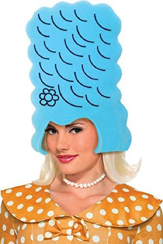 Fancy Me Damen-Kostüm Bienenenstock aus Schaumstoff, groß, Blau (Marge Simpson Kostüm Haar)