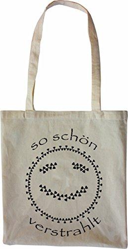 Mister Merchandise Tasche So schön verstrahlt AKW Atom Stofftasche , Farbe: Schwarz Natur