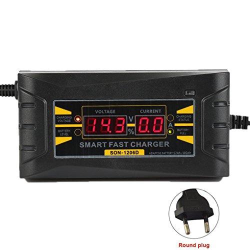 Ben-gi 12V 6A Intelligent Auto Moto Écran LCD Chargeur de batterie Anti - Retour Protection Connexio