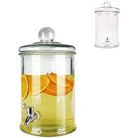 Jar Beverage Dispenser in Vetro Essential capacità 4.8