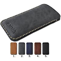 iPhone X, 8, 7 Plus, 6s, 6 Hülle Tasche Cover Leder Etui Case personalisiert durch Prägung mit ihrem Namen.
