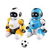 Ferngesteuerter Roboter Fernbedienung Fußball Roboter Spielzeug Tanzen Simulation Pädagogisches Spielzeug mit Blinklicht & Sound Kinder Elektrische USB-Lade Spielzeug für Kinder Kinder Kleinkind