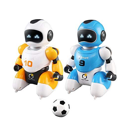 VERLOCO Cantando Y Bailando RC Robot Toy, Robot Inteligente De Fútbol con Función De Carga USB, 2 Robots, Mini Fútbol, Portería Y Accesorios, Juguetes Educativos Regalos Navideños para Niños
