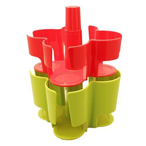 T-disc Carousel (Tassimo Koziol Carousel / Karussel T-Disc Halter, 2-tlg., für 40 T-Discs, Kaffee Kapselhalter, Kunststoff, Rot / Grün)
