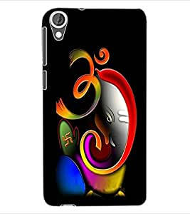 ColourCraft Lord Ganesha Design Back Case Cover for HTC DESIRE 820