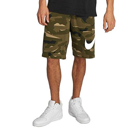 Nike Herren Sportswear Camo QS Shorts, Cargo Khaki/Cargo Khaki/(White), M