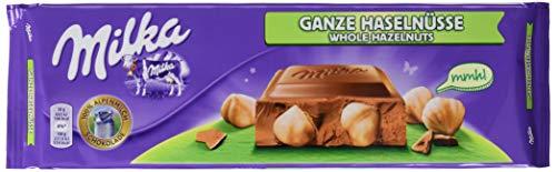 Milka Ganze Haselnüsse - Zartschmelzende Schokoladentafel mit ganzen Haselnüssen - Großtafel - 13 x 270g