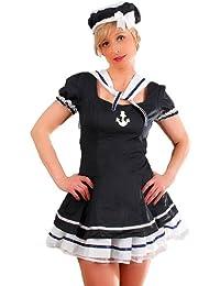 r-dessous hochwertiges Matrosen-Kleid komplett