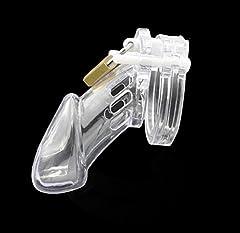 Idea Regalo - LoNHTwhp Lungo bianco plastica Cintura castità uomo CB6000 con serratura