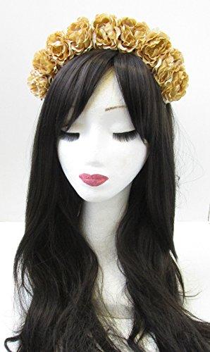 Or Rose cheveux fleur couronne bandeau Festival Boho Guirlande coiffe v34 Vintage * * * * * * * * exclusivement vendu par – Beauté * * * * * * * *