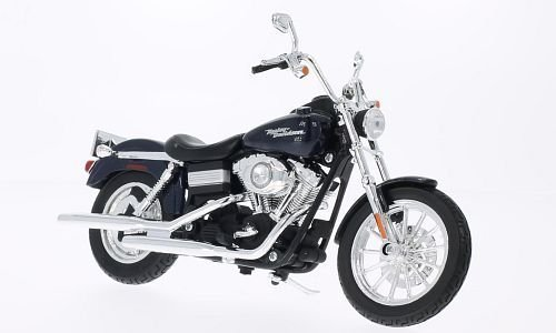 Harley Davidson FXDBI Dyna, metallic-dunkelblau, 2006, Modellauto, Fertigmodell, Maisto 1:12 (Harley Modell Autos Davidson)