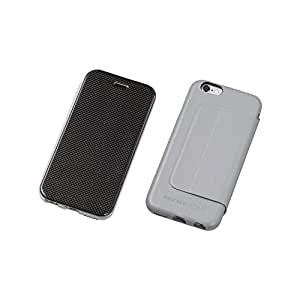 Deff Carbon Fiber Plus Genuine Leather Case for iPhone 6 (Gray)